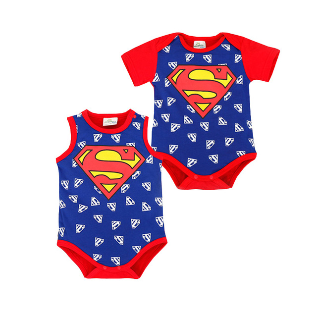f6c6f0658dcd1 Superman Vêtements Mode bebe Enfants Bébé Garçon Barboteuse D été Ropa  Captain America Batman Bébé