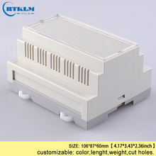 цена на Free shipping 5pcs/lot din rail plastic box abs electronic project cases diy PLC desktop enclosure junction box IP54 106*87*60mm