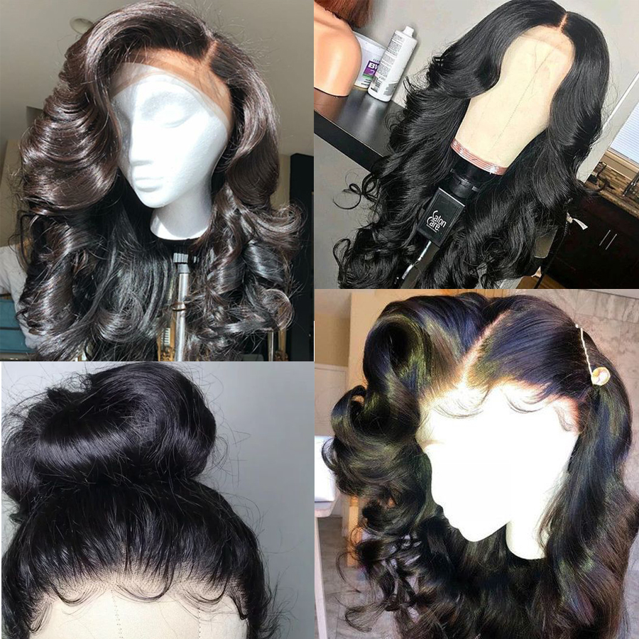 RXY Full Lace Wigs Human Hair With Baby Hair Brazilian Body Wave Pre Plucked Full Lace Human Hair Wigs For Black Women Remy Hair (3)