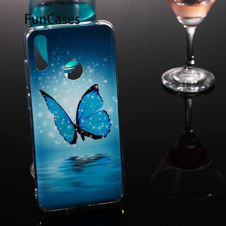 Animais Caso de Telefone Para Huawei funda Desfrutar 9 Je sFor Huawei cobertura Y7 Pro 2019 Coques Suave Silicone Protetor Parágrafos