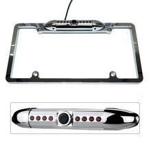 Черный американский кадр номерных знаков автомобилей Камера HD инфракрасный Ночное видение Frame номерных знаков заднего вида Камера