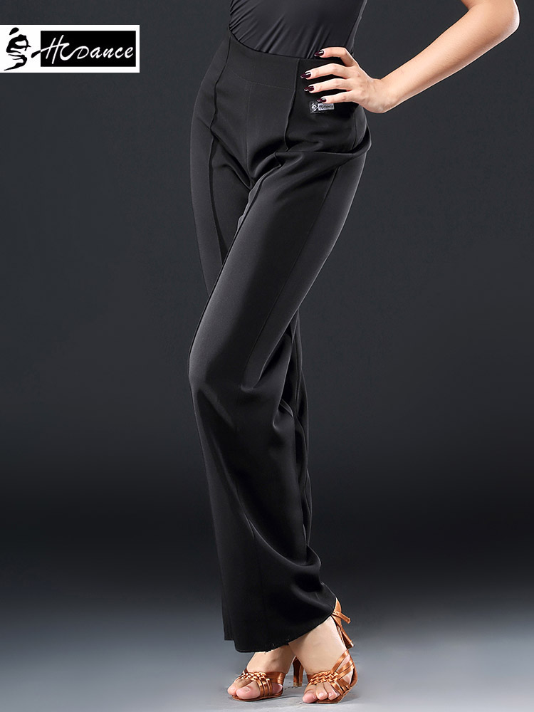 2018 Hcdance New Brand 1 Color Latin Dance Trouser Black Flamengo Salsa Samba Tango Ballroom Competition