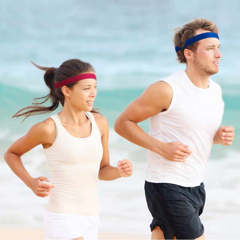 Nowy Sport joga opaska do włosów opaska antypoślizgowa opaska elastyczna pojedyncza opaska opaski do włosów odzież fitness do biegania kobiety mężczyźni