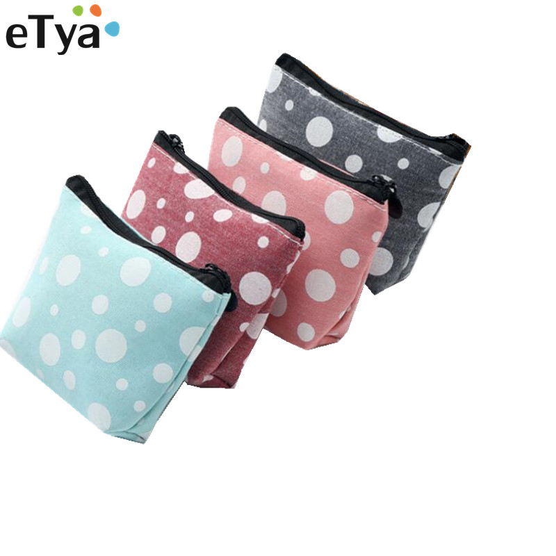 eTya Small Coin Wallet Purses Women Mini Cute Coin Money Key Card Holder Bags Canvas  Ladies Girl Kids Children Coin Pouch