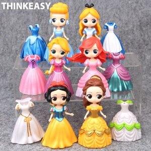 Muñecas de My cute little Anna y Snow Sofia para niñas, 6 vestidos, juguete de acción, poni, unicornio, muñecas de vinilo, regalo de Navidad, 2018