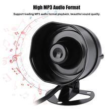 Głośnik elektroniczny głośnik zewnętrzna syrena alarmowa Alarm magazynowy ciężarówki obsługa Sirene odtwarzanie MP3 karta SD IP65 Sirena Alarm