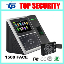 4.3inch touch screen TCP/IP USB face and fingerprint time attendance 1500 face capacity face door access control system