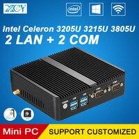 2016 Newest Industrial MINI PC Computer Barebone Thin Client Micro Computer Celeron 3205U Pentium 3805U Industry