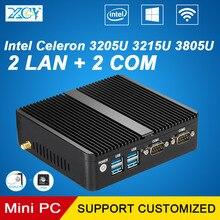 Celeron mini PC 2LAN 3215U 2COM Informático Comercial 4G RAM 128G SSD WIFI Integrado Gráficos TV BOX PC
