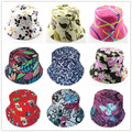 Hot sale travel outside women cap hat summer hat canvas sun hat Lady's Bucket hat 12pcs WH001