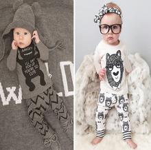 Detal 2016 ubranka dla dzieci odzież dla niemowląt zestawy ubrań dla niemowląt chłopiec bawełna małe potwory z długim rękawem 2 szt baby boy clothes tanie tanio Dziecko REGULAR Unisex O-neck Kamizelka Nowość Pełna Pasuje prawda na wymiar weź swój normalny rozmiar WASAILONG Płótno