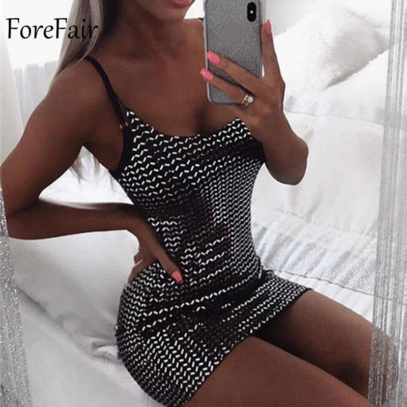 Forefair Summer Mini Sequin Dress Clubwear Party Black Off Shoulder (4)