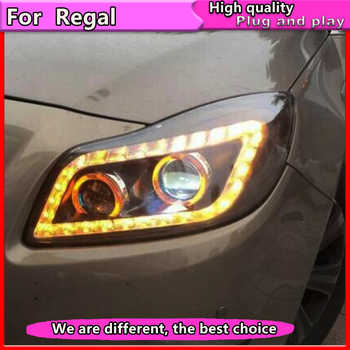 Car Styling Headlights for Buick Regal headlight 2009-2011 GS Style Opel Insignia head lamp led DRL front light Bi Xenon lens