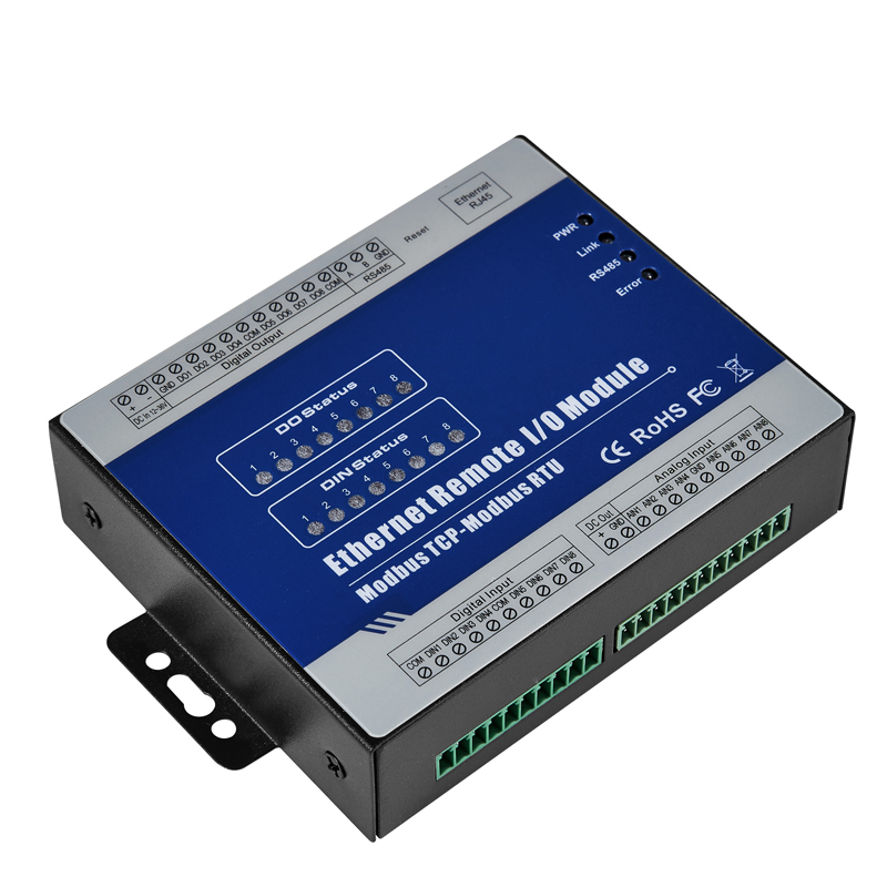 RS485 Modbus Tcp サーバ RJ45 イーサネットデータ取得モジュール 8DIN + 4DO + 4AI ための内蔵 web サーバ構成 M150T  グループ上の セキュリティ & プロテクション からの ビルオートメーション の中 3