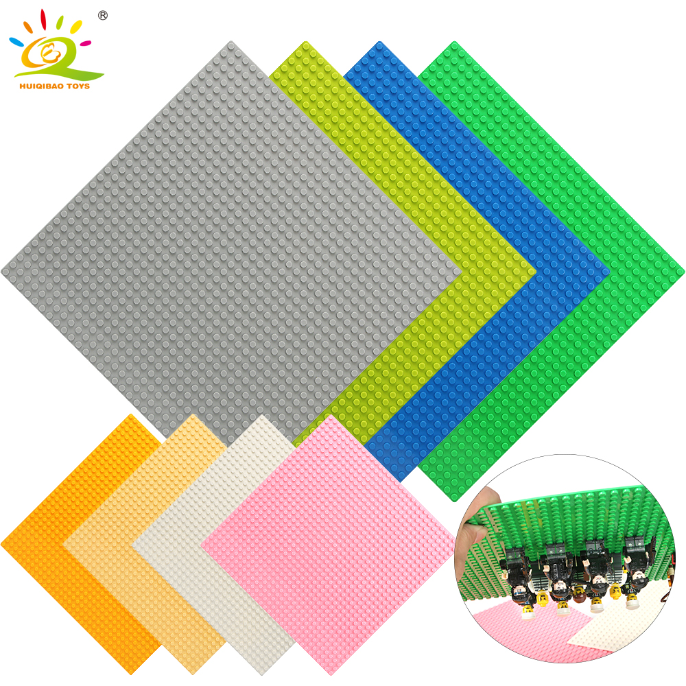 Color 8*32*32 puntos placa Base para pequeños ladrillos placa Base placa Compatible con las figuras de Legoing DIY bloques de construcción de Juguetes para los niños