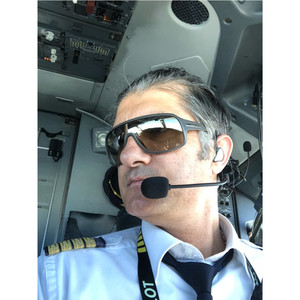 Image 2 - YENI airbus bağlayıcı kulak tipi havacılık kulaklık L 1 Süper Hafif Sessiz olarak ANR! Kulak tipi pilot kulaklık