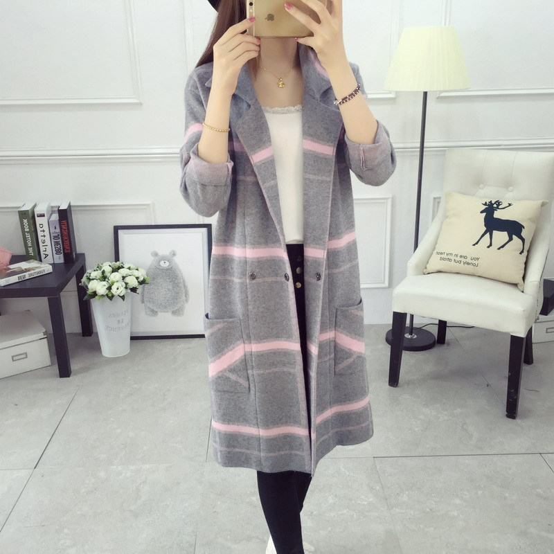 2018 Women Cardigans Female Sweater Fashion Autumn Winter Warm V Neck Casual Loose Knitted Tops