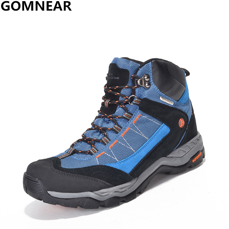 bc852e737bd GOMNEAR Men Women 100% Waterproof Hiking Shoes Antiskid Desert ...