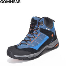 GOMNEAR Women's And Men's Waterproof Hiking Shoes Fishing Outdoor Walking Athletics Boots Lovers Climbing Trekking Sport Boots