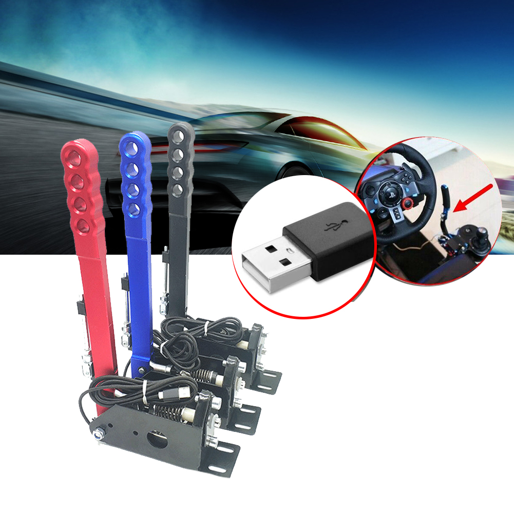 14Bit PC Auto Parts Adjustable Height USB Handbrake Universal Easy Install Clamp Drifting Replacement For Racing Games G27 G29 image