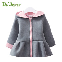 Do Dower Girl Wram Girl Jackets Outerwear Coat Hooded Rabbit Jacket For Baby Girl Kids Jacket