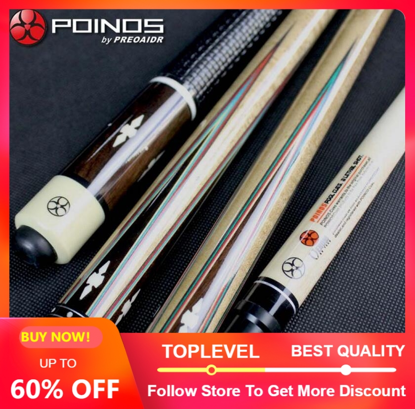 POINOS Handmade DK Billiard Pool Cue Stick Kit Maple Durable Professional 13mm 11 5mm Tips Inlaid