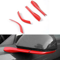 4x ABS Rearview Mirror Pedestal Trim Cover Decoration Fit For Ford Mustang 2015 2016 Car Accessory