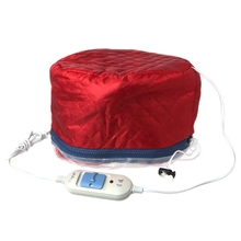 Red Household Hair Care Mask Heating Cap Mantles Electric Tr