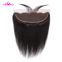 Ali Coco Hair Brazilian Straight Lace Frontal Closure With Baby Hair 8 22 inch Ear to Ear Frontal 100% Remy Hair Frontal