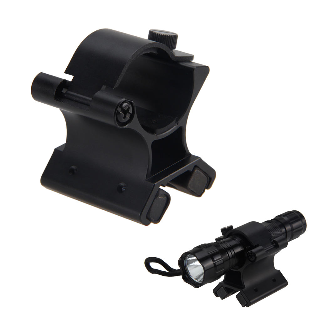 X-WM02 27-30mm Strong Dual Magnetic X Tactical DIY Bracket Mount Holder For Gun Light Tactical Hunting Flashlight Clip Accessory