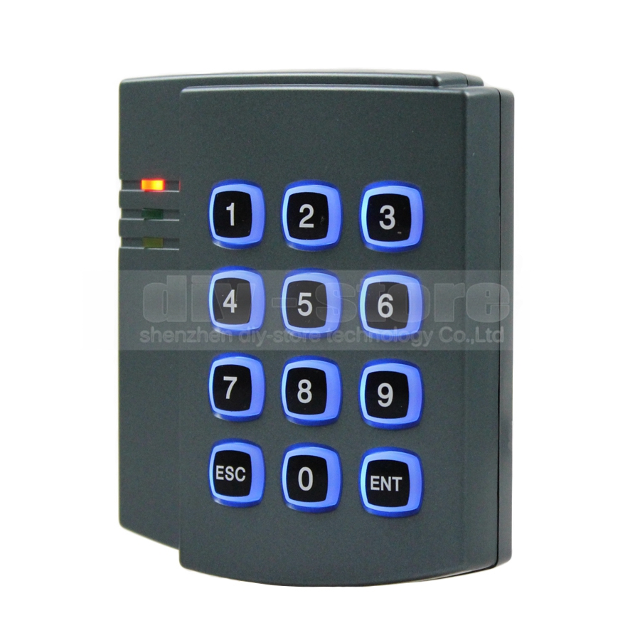 DIYSECUR RFID 125KHz ID Card Reader Door Access Controller Keypad Kit +10 Free ID Key Fob 2501