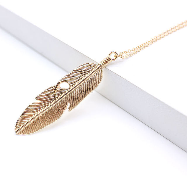 Simple Classic Feather Necklace 1