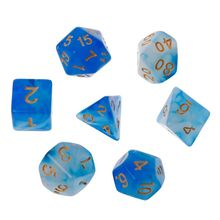 7pcs/set Polyhedral Sided Dice D4 D6 D8 D10 D12 D20 For Dungeons&Dragon D&D RPG Poly Table Game