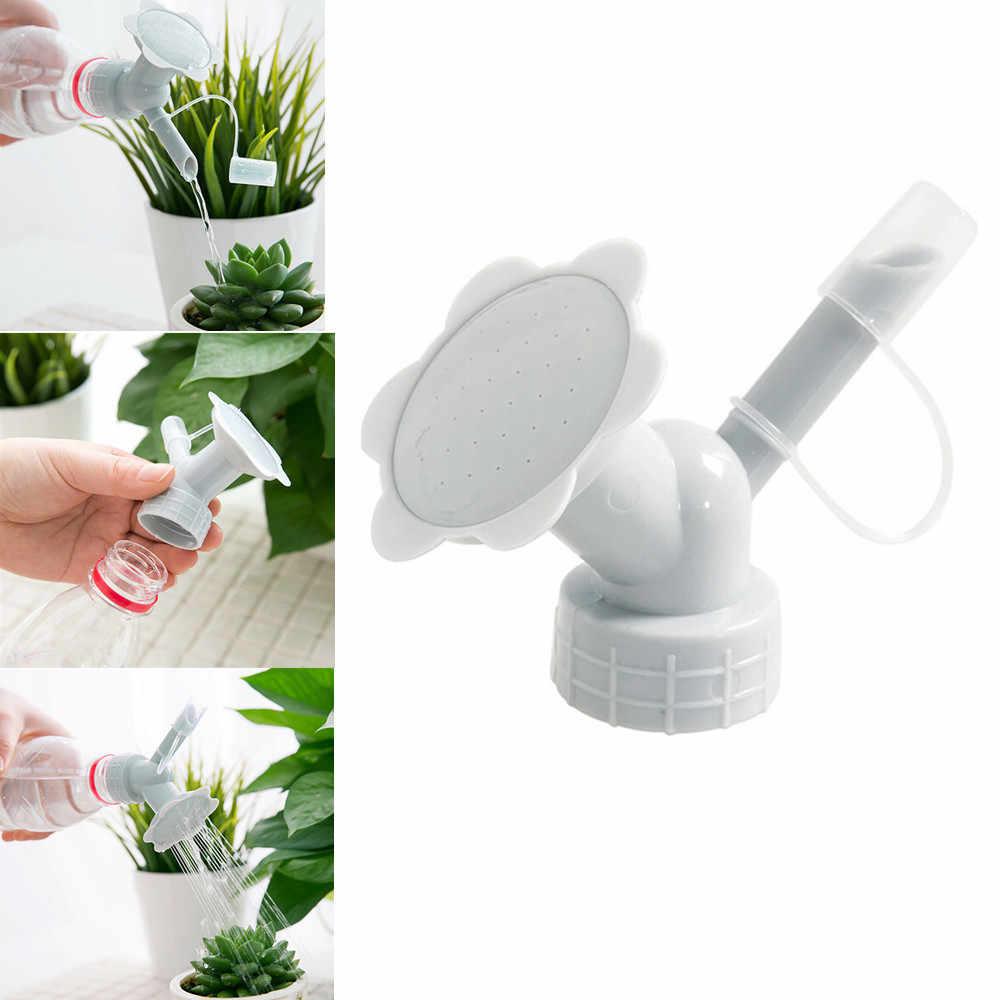 2 で 1 プラスチックスプリンクラーノズルのためのフラワー給水器ボトル散水缶スプリンクラーシャワーヘッドガーデンツール
