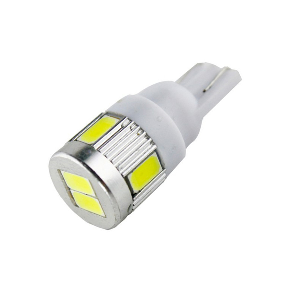 Blue LED License Plate Light T10 6-SMD Easy Fit Bulbs 194//168//2825 x 4pcs