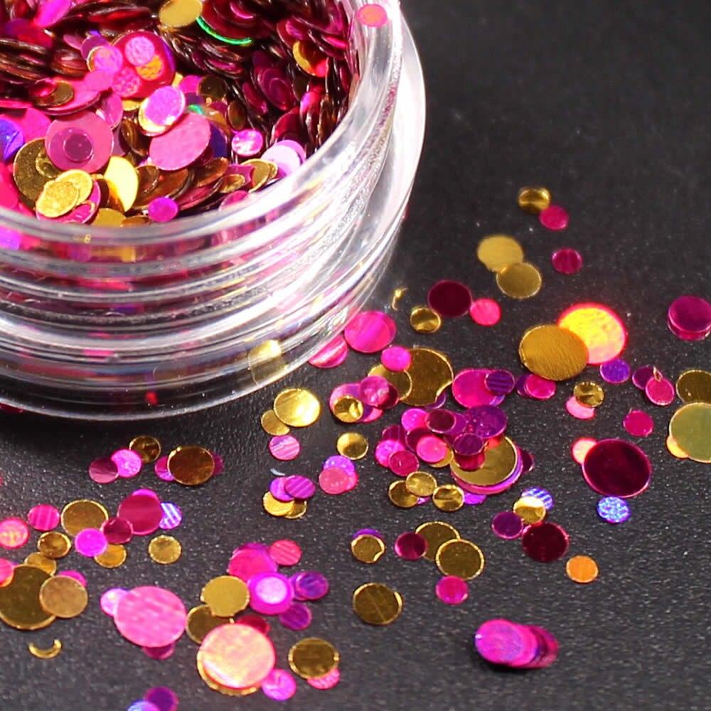 1 коробка блестящие круглые ультратонкие блестки Красочные Блестки для дизайна ногтей УФ гель 3D декоративный Маникюр DIY аксессуары NR234 - Цвет: 6