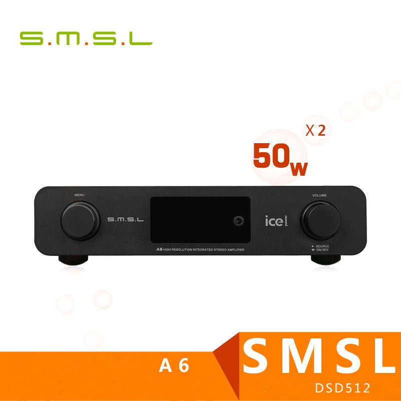 SMSL A6 Professional HiFi Multifunction CM6632A AK4452 50Wx2 DSD512 Digital Audio Amplifier 384KHZ/32Bit Optical/Coaxial/USB DAC 2016 newest smsl m8 digital decoder mini amplifier dac es9018 hifi audio optic coaxial xmos usb asynchronous 384khz 24bit dsd