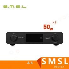 Best price SMSL A6 Professional HiFi Multifunction CM6632A AK4452 50Wx2 DSD512 Digital Audio Amplifier 384KHZ/32Bit Optical/Coaxial/USB DAC