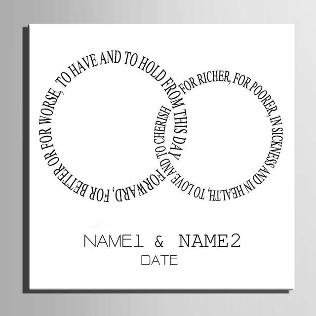 Online Shop Guest Signature DIY Party Gift Wedding Canvas Signing