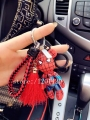NEW POPOBE Bear Action Figure Key Chain red Tassels Gloomy Bear car key chains leather landyard Bag Charm Key Ring spider man