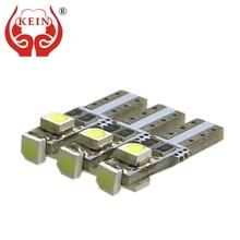 цена на KEIN 10pcs T5 bulbs W3W led Car Instrument Lights t5 led 3smd 3528 1210 Dashboard Warning Indicator Cluster Gauge lamp 12V blue