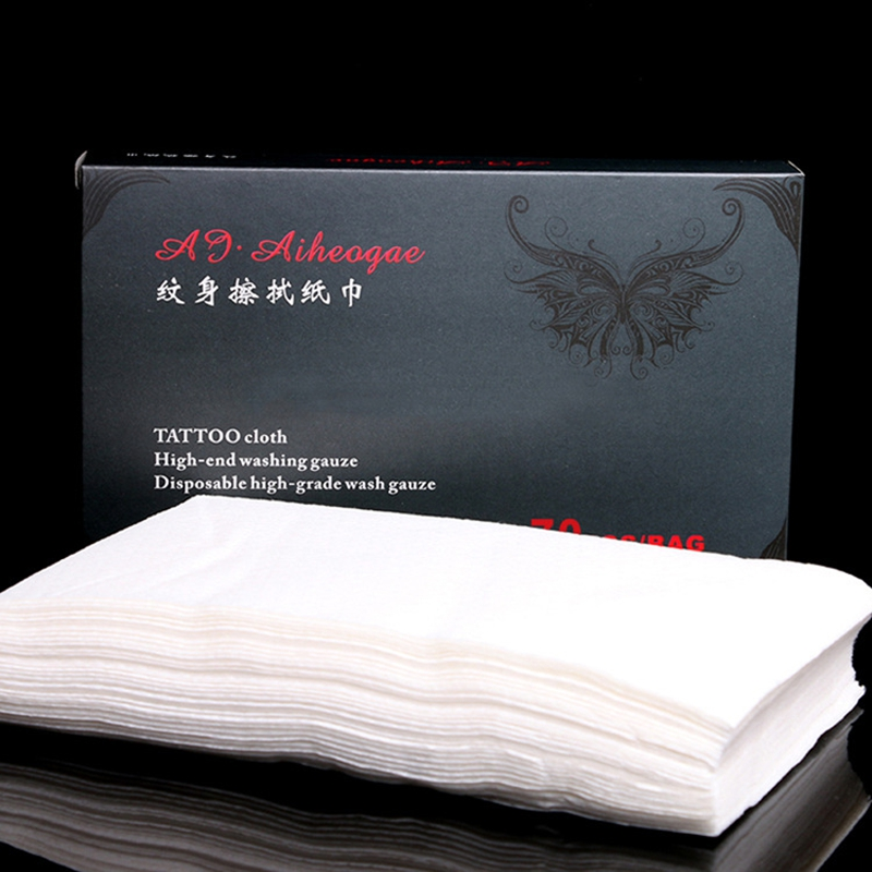 Tattoo Cleaning Paper Towel Tissue70Pcs Table Mat Disposable Medical Wipe Tools For Body Art Permanent MakeupSupply Accessories