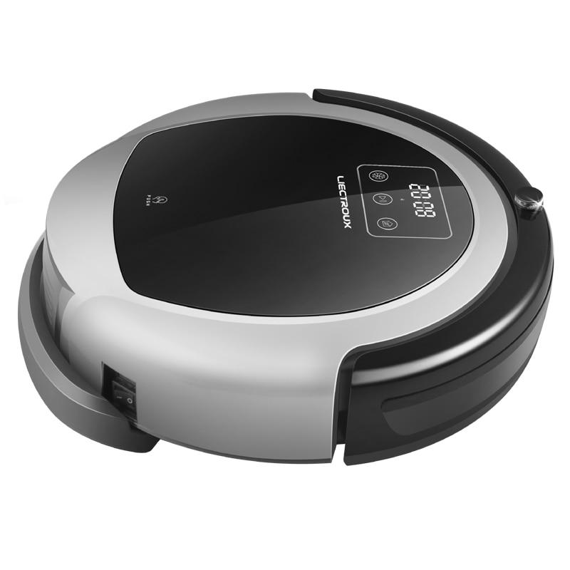 LIECTROUX Robotic Vacuum Cleaner B6009 2D Map & Gyroscope Navigation,with Memory,suction 3000 pa,Virtual Blocker,UV Lamp,Wet Mop