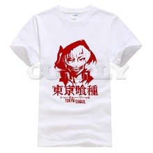 2019 new T-shirt Print  Tokyo Ghoul Large size Japan Anime Cartoon Fashion Summer dress men tee Cotton Funny t shirt