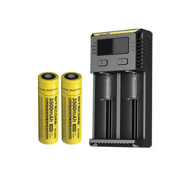 NITECORE nowa I2 ładowarka + NITECORE 18650 3500mAh NL1835 akumulator litowo-jonowy tanie i dobre opinie AC 100-240V 50 60Hz or DC 9~12V RoHS CE FCC and CEC charging batteries