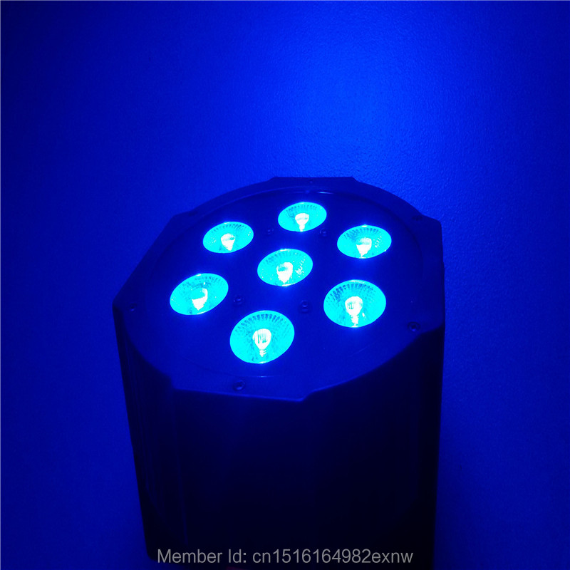 ФОТО 7x 9W RGB DMX Stage Lights Business Lights LED Wash Light RGB Color Mixing 7x9W