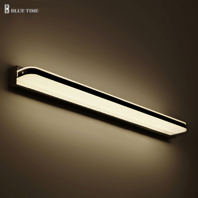 Anti-fog LED Wall Light Stainless steel Bathroom Mirror Front Light Led Sconce Wall Lamp Bathroom Waterproof 40 60 80 100 120cm