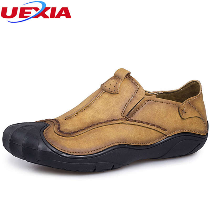 UEXIA New Anti-collision toe High Quality Men Leather Fashion Casual Shoes Men's Luxury Brand Designer Shoes Man Flats Moccasins cbjsho brand men shoes 2017 new genuine leather moccasins comfortable men loafers luxury men s flats men casual shoes
