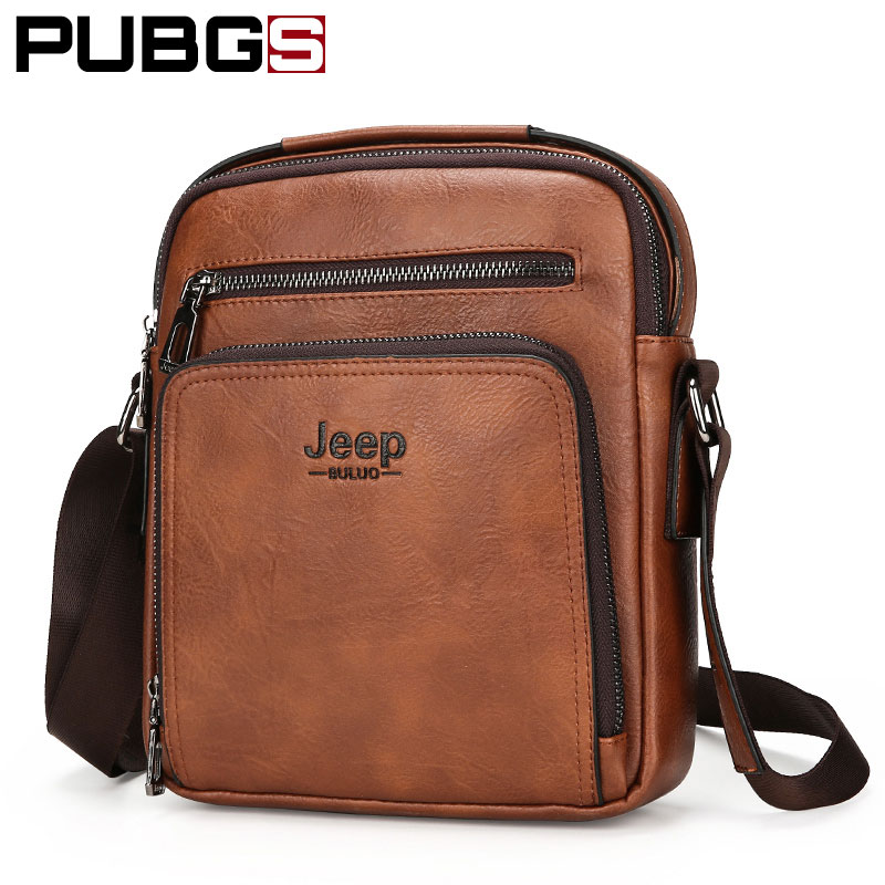 PU Leather Mens Shoulder Bag Messenger Bag Male Business Briefcases Small Bag Vintage Designer Brand PUBGS 2018 New Arrival