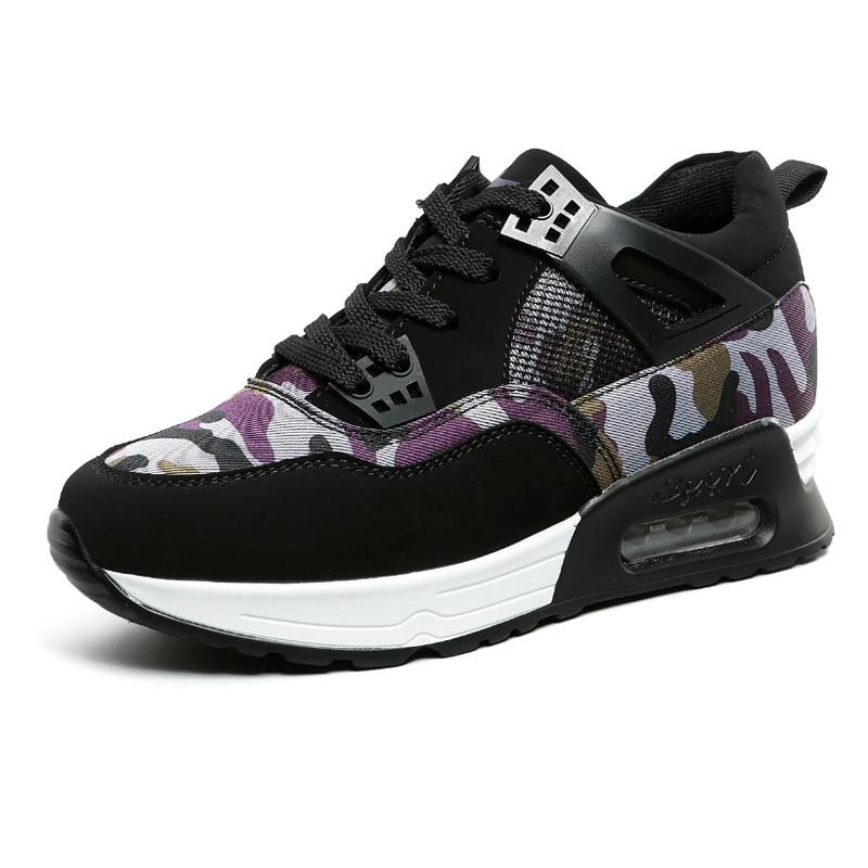 Сетка воздушной подушке Для женщин толстый матрас повседневная обувь дном женские модные увеличивающие рост свет на платформе для женские ...